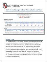 Statement of Changes in Fund Balance by Cat and Class - TTUHSC ...