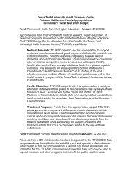 Fiscal Year 2000 - Texas Tech University Health Sciences Center