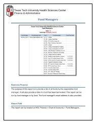 Fund Managers - TTUHSC :: Finance & Administration - Texas Tech ...