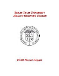 2003 Fiscal Report - TTUHSC :: Finance & Administration - Texas ...