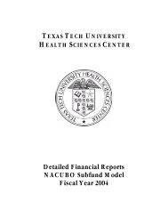 2004 Detailed Financial Reports - TTUHSC :: Finance & Administration