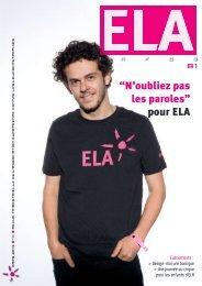 ELA Infos n°81 – Mars 2013