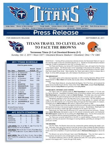titans travel to cleveland to face the browns - NFL.com