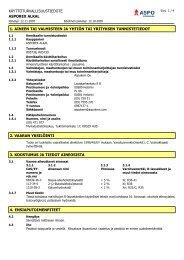 käyttöturvallisuustiedote asporex alkal 1. aineen tai valmisteen ja ...