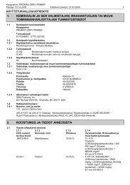 1. kemikaalin ja sen valmistajan, maahantuojan tai muun ...