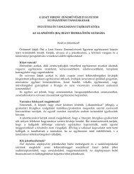 BA felvételi és taulmányi tájékoztató - Egyházzene.hu