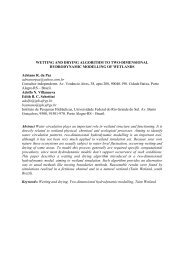 WETTING AND DRYING ALGORITHM TO TWO-DIMENSIONAL ...