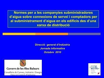 Presentació normes d'aigua (361Kb) - Govern de les Illes Balears