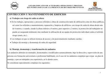 Construcción y mantenimiento de edificios - PIME Menorca