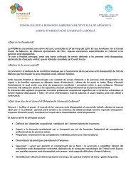 Fundació per a Persones amb Discapacitat de ... - PIME Menorca