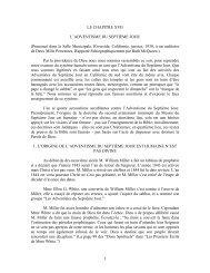 1 LE CHAPITRE XVII L'ADVENTISME DU SEPTIÈME JOUR ...