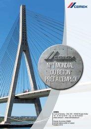 Dossier de presse CEMEX - Activité bétons prêts à l'emploi