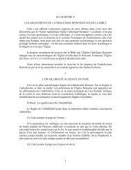 1 LE CHAPITRE V LES ARGUEMENTS DU CATHOLICISME ...