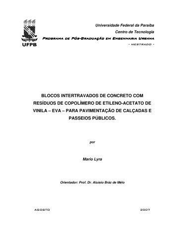 BLOCOS INTERTRAVADOS DE CONCRETO COM ... - CT-UFPB