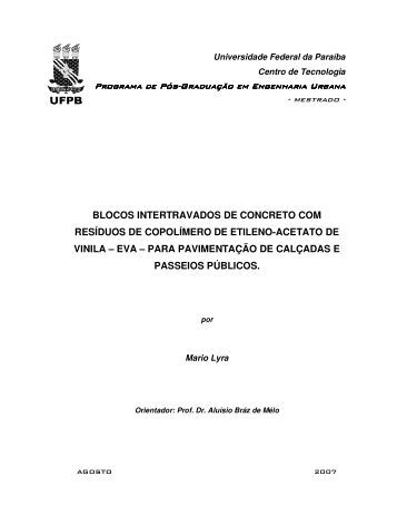 BLOCOS INTERTRAVADOS DE CONCRETO COM ... - CT-UFPB