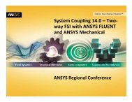 System Coupling 14 0 - Two-way FSI with ANSYS Fluent and