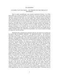 1 LE CHAPITRE I EN INSPECTANT LES PAROIS – UNE ...