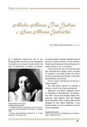 Madre Maria Pia Gullini e Suor Maria Gabriella** - Associazione ...