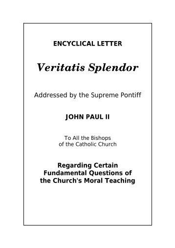 Veritatis Splendor - Catholic-Pages.com