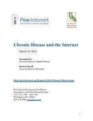 Chronic Disease and the Internet - Pew Internet & American Life ...