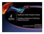 Healthcare Under President Obama Changing Landscape of ...