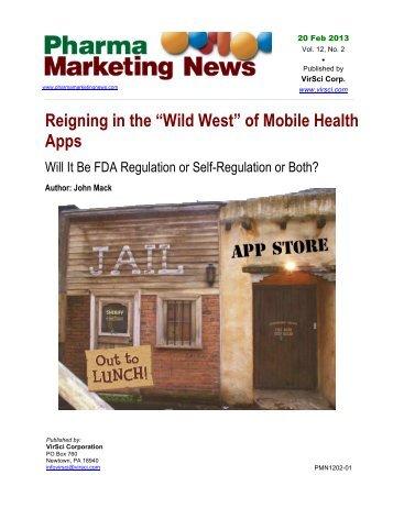 of Mobile Health Apps - Pharma Marketing News