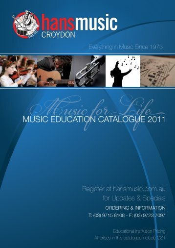 MUSIC EDUCATION CATALOGUE 2011 - Hans Music Spot