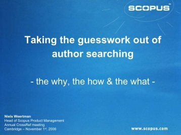 Taking the guesswork out of author searching - CrossRef
