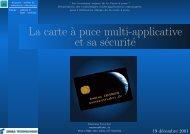 La carte `a puce multi-applicative et sa s´ecurit´e - Damien Sauveron