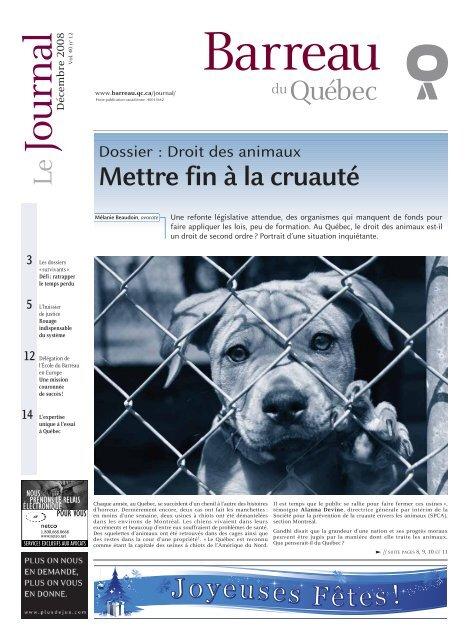 des Québec DossierDroit animaux du Barreau kiOZPXu