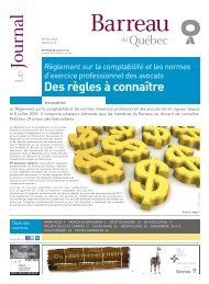Journal du Barreau - Volume 43, numéro 2 - Février 2011
