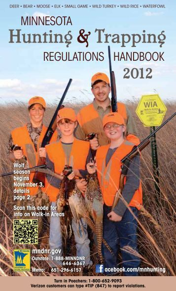 2012 Ontario Hunting Regulations Summary Whole Ministry
