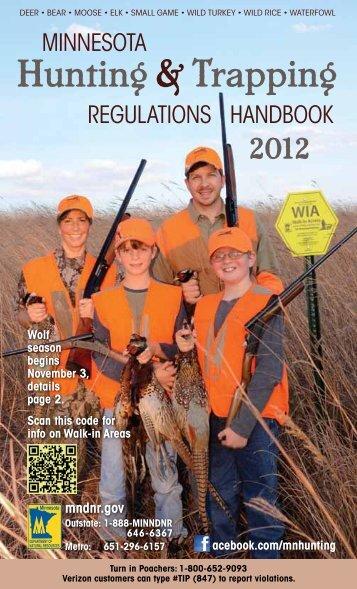 2012 Minnesota Hunting & Trapping Regulations Handbook