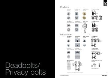 Deadbolts Privacy bolts - Hot2Cold