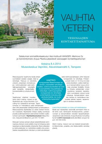 VAUHTIA VETEEN - SAMK