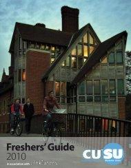 Freshers' Guide 2010 - Cambridge University Students' Union ...