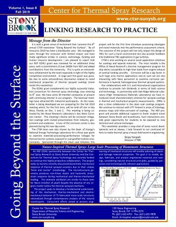 Newsletter[Vol-1-Issue-8] - Center for Thermal Spray Research