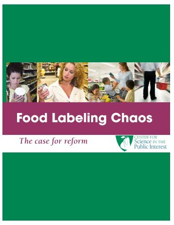Food Labeling Chaos - Bioscience Resource Project