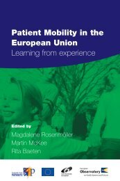 Patient Mobility in the European Union. Learning from experience
