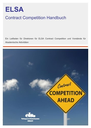 Contract Competition Handbuch - ELSA Germany