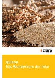 Neue Rezepte mit Quinoa hier zum Download - Claro Laden ...