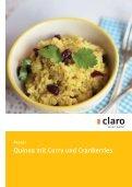 Neue Rezepte mit Quinoa hier zum Download - Claro Laden ... - Seite 7