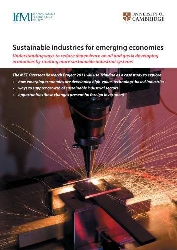 Sponsorship brochure - Institute for Manufacturing - University of ...