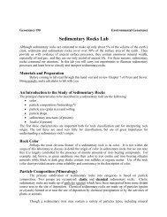 Sedimentary Rocks Lab - People