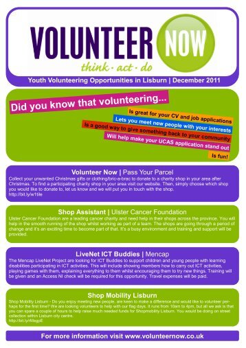 Youth Opportunities Lisburn - Volunteer Now