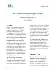 Fiber Optic-based Lighting for Aircraft, Giovanni Tomasi, CEO/CTO ...