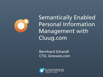 Semantically Enabled Personal Information ... - I-Semantics
