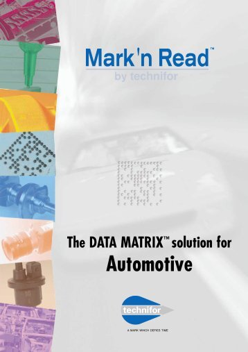 The DATA MATRIX Solution For Automotive