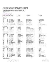 Siegerliste Talausstellung Wipptal 2013 zum ... - Braunvieh Tirol