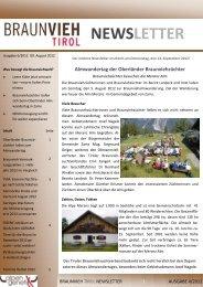 Ausgabe August 6/2012 - Braunvieh Tirol